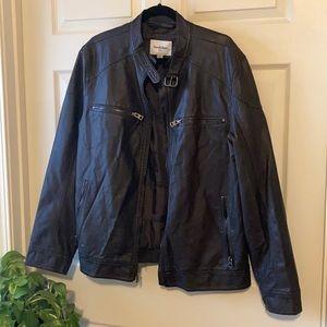 Goodfellow & Co Moto Jacket Faux Leather XXL New